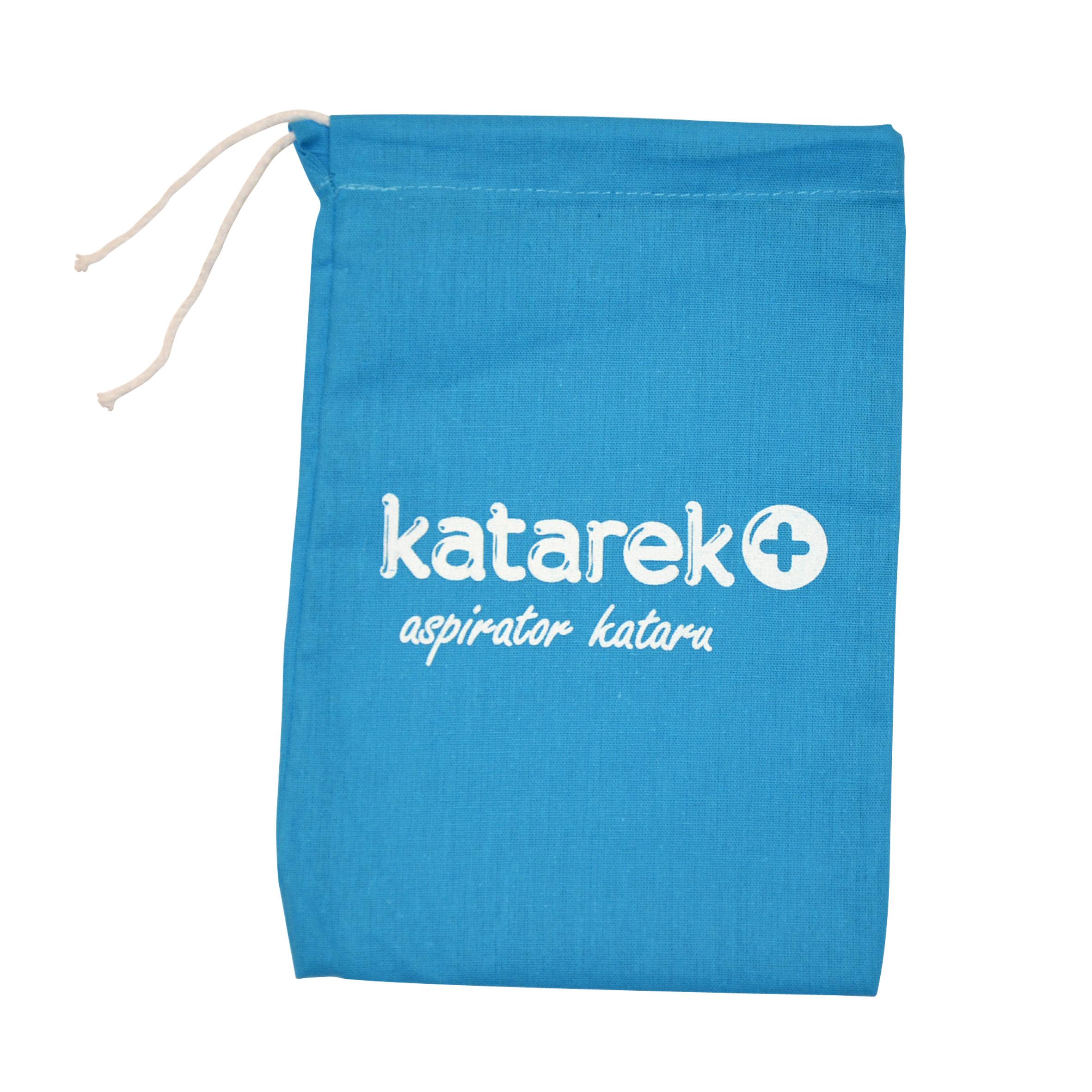 Niebieski woreczek katarek + - aspirator kataru