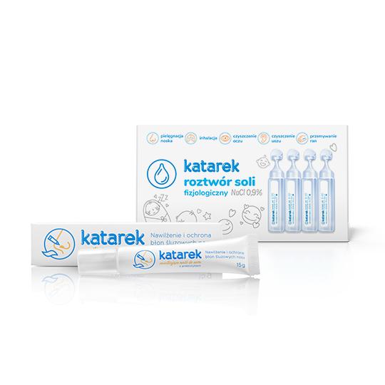 Katarek - fizjologiczny roztwór soli NaCl